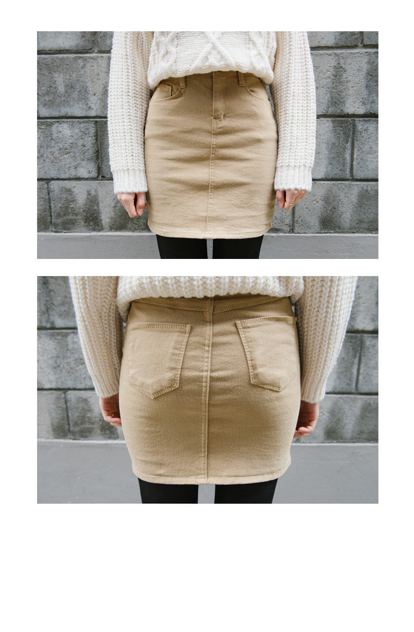 Basic Colored Mini Skirt|